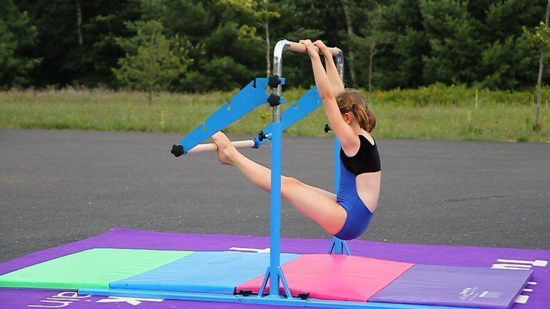 safety precaution when using gymnastics bars
