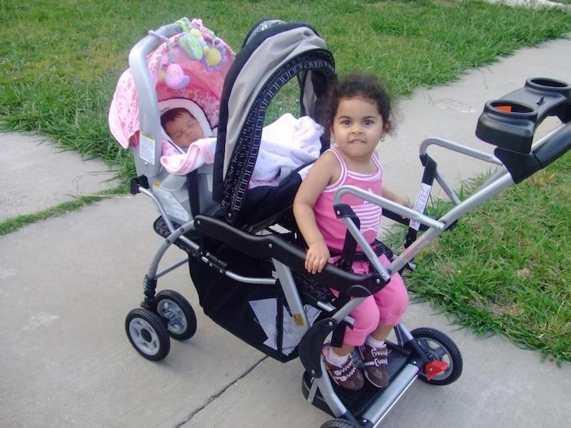 a double stroller can be a real life savior
