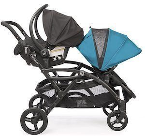 contours options tandem stroller blue