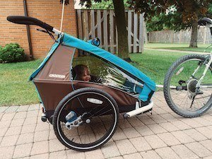 jogging bike trailer