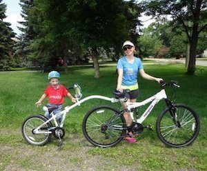 it can help you teach your child the basic biking skills