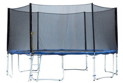 Exacme 6W Legs Trampoline with Safety Pad & Enclosure Net & Ladder All-in-One Combo Set