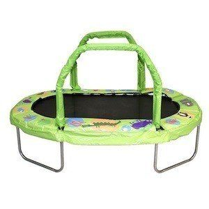 JumpKing Mini Oval Trampoline with Green Pad