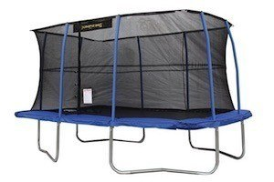 JumpKing Rectangular Trampoline with Safety Net Siding