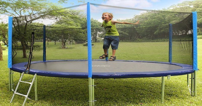 a trampoline that built for the whole family