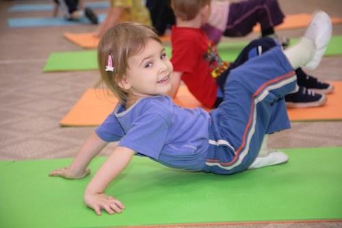 kids practicing gymnastics safetly